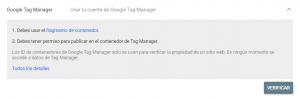 Verificar un dominio en Google Search Console mediante Tag Manager