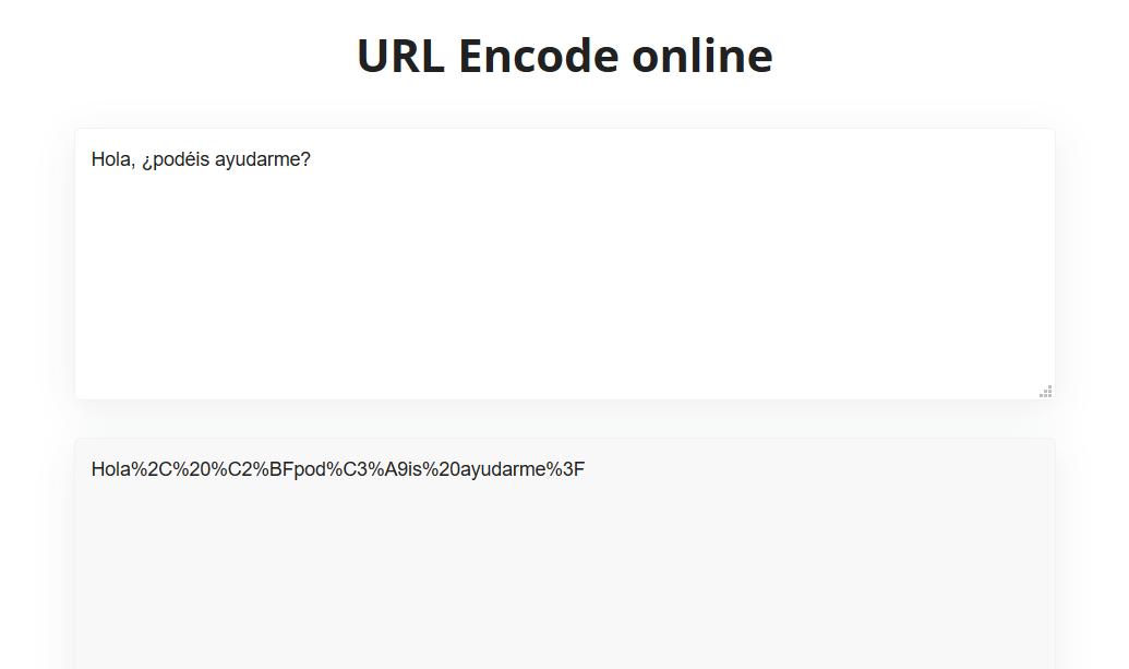 Ejemplo de cómo codificar texto para crear una URL