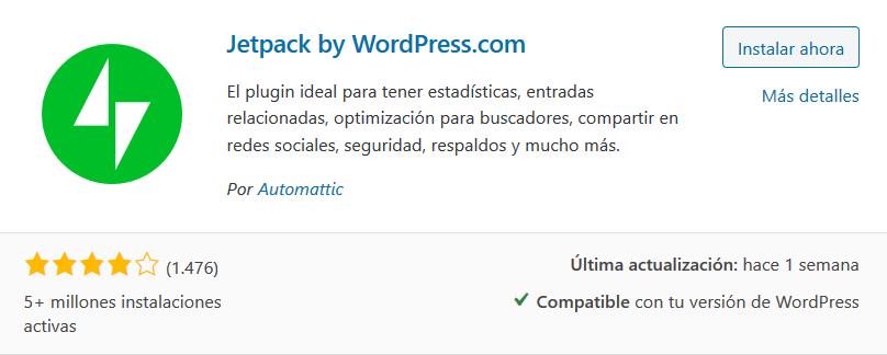 Instalar Jetpack en WordPress