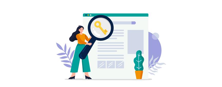 Mujer haciendo un keyword research para mejorar el SEO