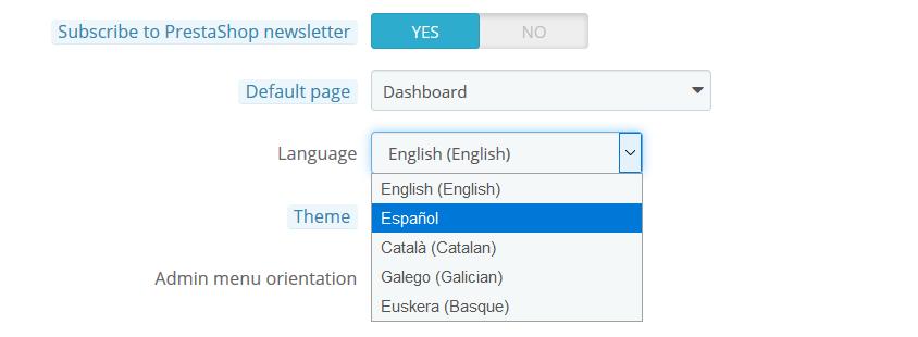 Poner PrestaShop 1.6 en español