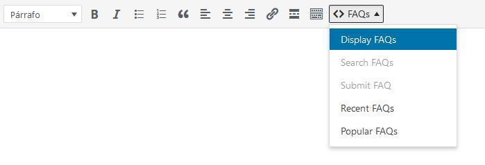 Añadir la sección de FAQs a WordPress con el plugin Ultimate FAQ con el editor clásico de WordPress