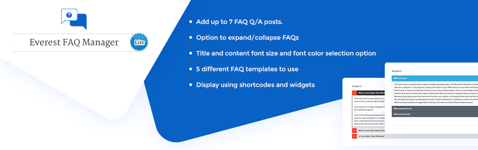 Plugin Beautiful FAQ