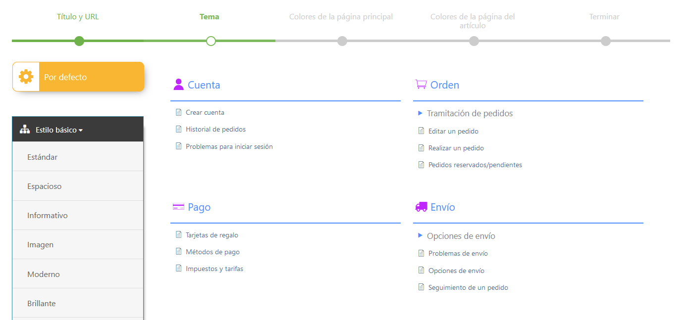 Diseños y plantillas disponibles con el plugin Knowledge Base for Documentation & FAQs
