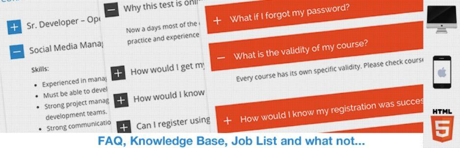 Plugin HTML5 Responsive FAQ