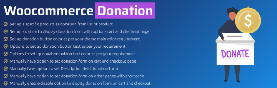 Plugin de donaciones para WooCommerce: Woo Donations