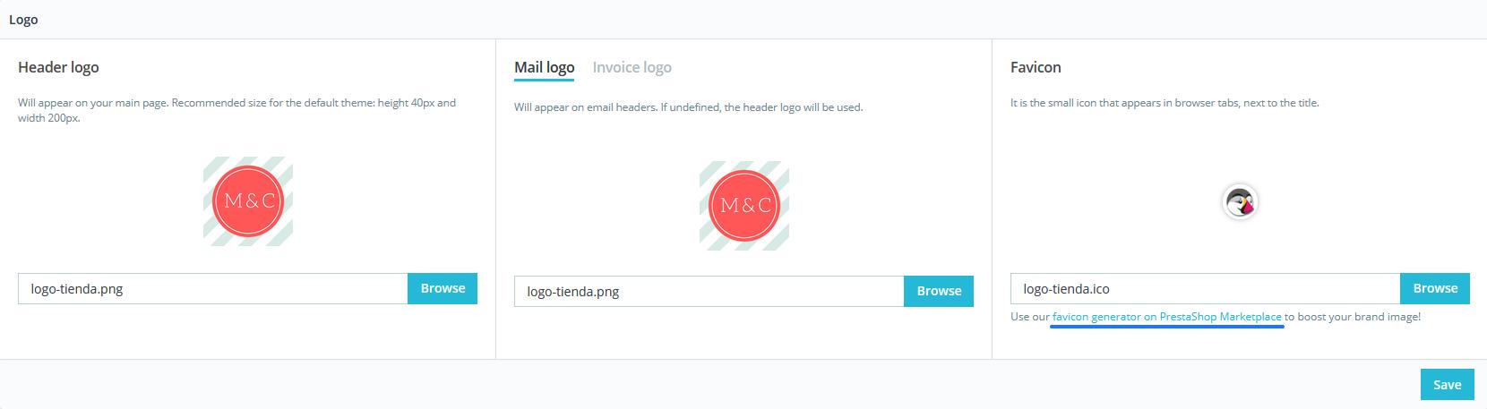 Cambiar el logo de tu tienda en PrestaShop 1.7