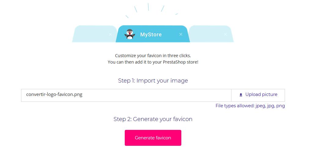 Cómo crear un favicon con la herramienta de PrestaShop