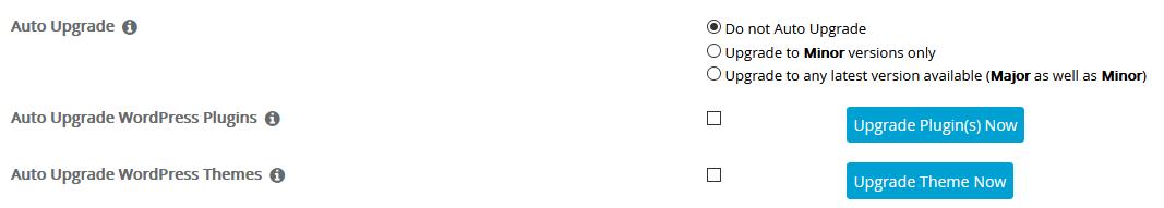Desactivar las actualizaciones automáticas de WordPress con Softaculous