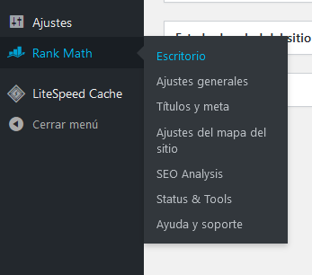 Acceder al escritorio de Rank Math