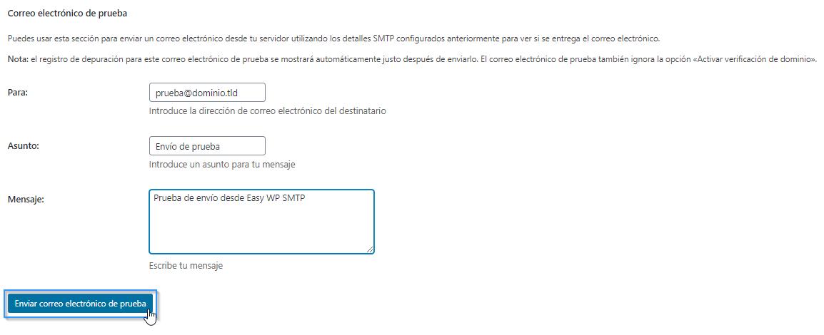 Cómo comprobar si hemos configurado SMTP en WordPress de forma correcta