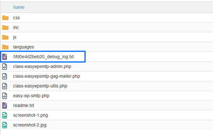 Log depuración del plugin SMTP de WordPress