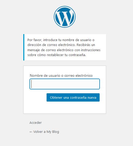 Restablecer la contraseña del usuario admin de WordPress