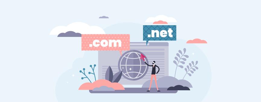Diferencia entre un dominio .com y .net