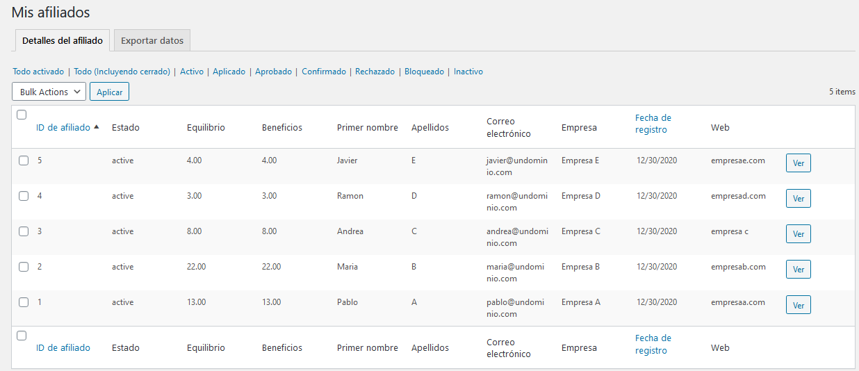 Gestión de afiliados con el plugin Affiliates Manager de WordPress