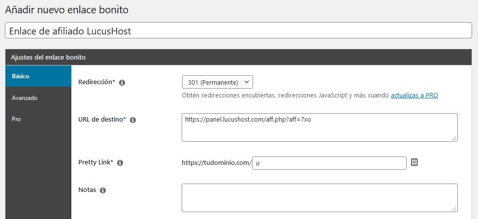 Gestión de enlaces con el plugin Pretty Links de WordPress