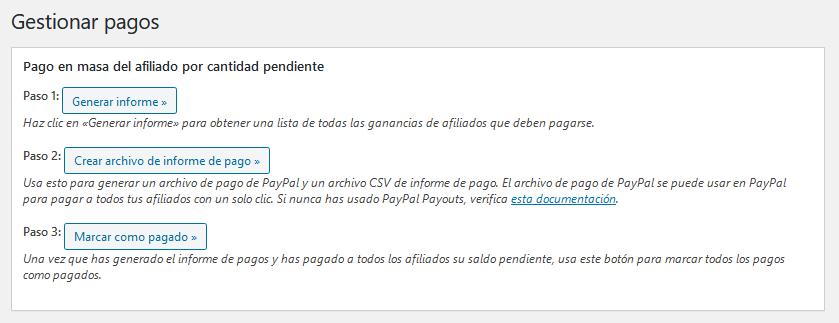 Gestionar los pagos de comisiones con el plugin Affiliates Manager de WordPress