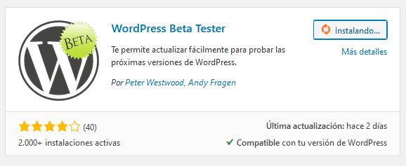 Plugin WordPress Beta Tester