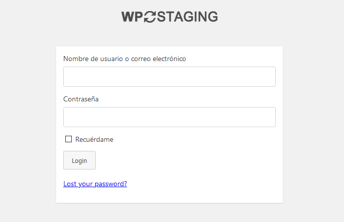 Acceder al staging con WP Staging