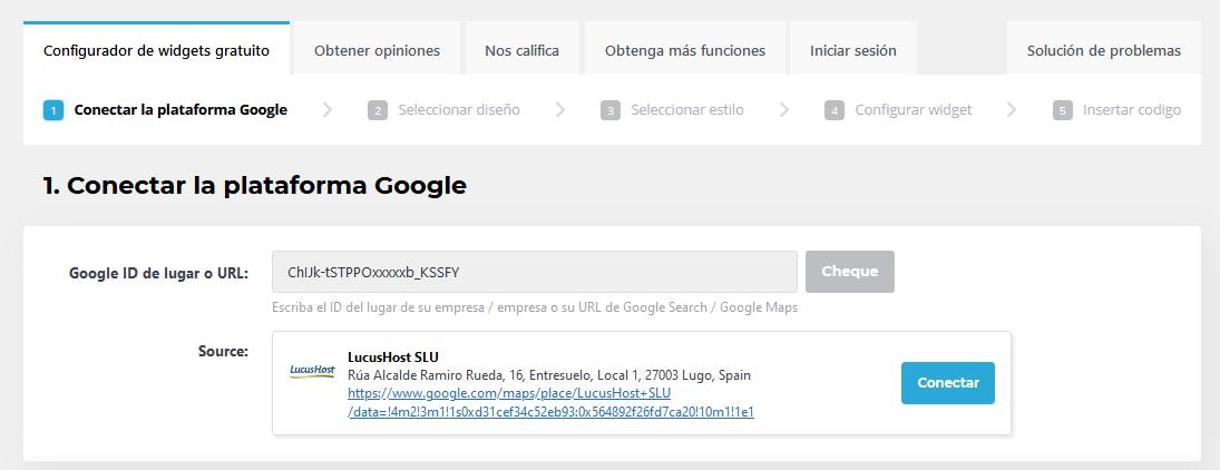 Conectar tu web con Google Maps a través de Trustindex
