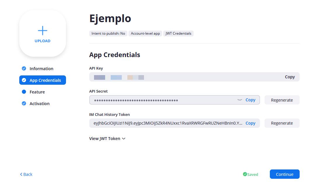 Obtener la clave API de Zoom