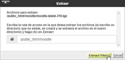 Subir la nueva versión de Moodle al hosting