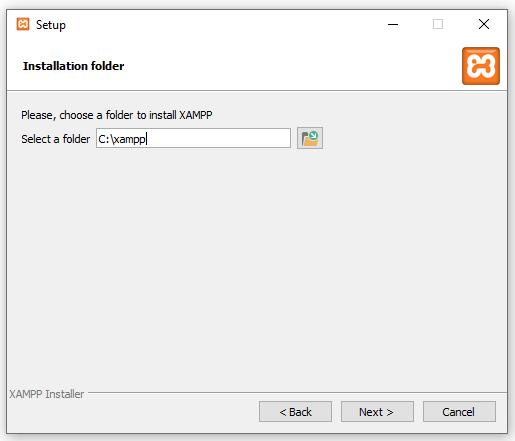 Configuración de XAMP: Tercer paso