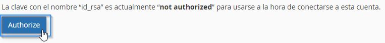 Autorizar clave SSH