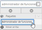 Administrador de funciones del WHM